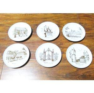 Vtg Set of 6 Kaiser Porzellan Mini Plates